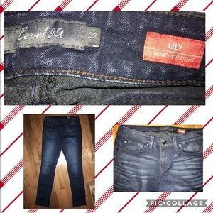 Level 99 Lily Straight Stretch Jeans Size 32x33